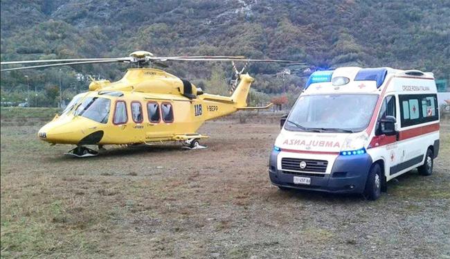 ambulanza elicottero campo
